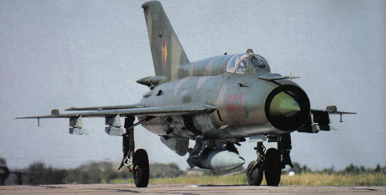Russian Fighter Jet: Mig-21 Fishbed. Air Force Russian