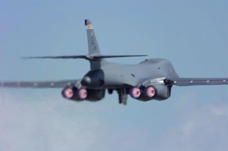 Rockwell B-1B Lancer supersonische bommenwerper Luchtmacht ... B1 Lancer Supersonic